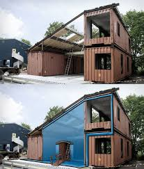 100 House Made From Storage Containers Photoshop Rendition Of A Made Of Shipping