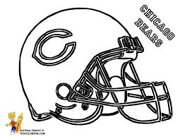Chicago Bears Football Helmet Coloring Page At YesColoring
