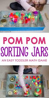 Montessori Preschool Math Activities Fresh Pom Sorting Jars