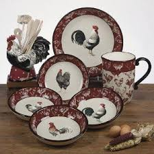 Country Rooster Pitcher 3 Quart By Tina Higgins
