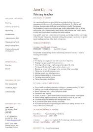 Primary Teacher CV Sample School Teaching Classroom Children