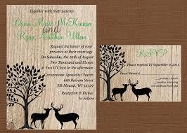 Rustic Wedding Invitation Deer Antler