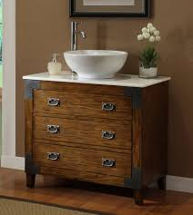 Bathroom Vanity Tops With Sink by 36 U201d Asian Inspired All Wood Construction Akira Vessel Sink Bath