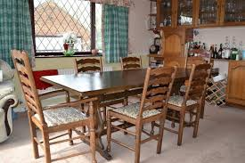Very Large Oak Dining Room Table In Superb Condition With 6 Chairs It Is 30 Years Old And Was Made By Hardings Of Chatterisno Longer Trading Will