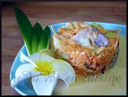 cuisine tahitienne recette de la salade tahitienne thon crudités lait de coco