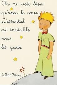 le petit prince au bureau one only sees well with the the most important things are