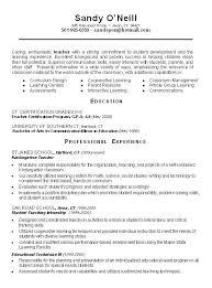 Resume Samples For Teacher Substitute Sample