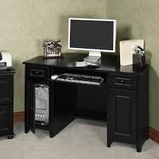 Black Glass Corner Computer Desk by Corner Desk Small Oak Computer Desk In Brown Varnished Modern
