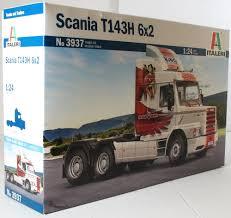 100 Model Truck Kits Italeri 124 3937 Scania T143H 6x2 Kit EBay
