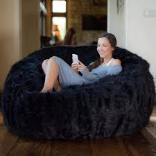 100 Furry Bean Bag Chairs For S Amazoncom Comfy Acks 5 Ft Memory Foam Chair Black