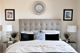 View In Gallery Modern Bedroom Sporting Tufted Headboard Neutral Colors