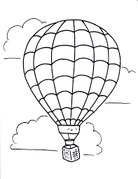 Coloring Pages Online Hot Air Balloon Printables Fresh In Design