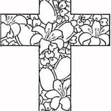 Coloring Pages Cross To Color On The
