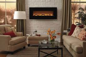 Living Room With Wall Mounted Electric Fireplace