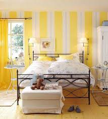 Striped Wall Design In Yellow Color