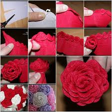 Paper Rose Flower Making Easy Beautiful How To Make Flowers Step By