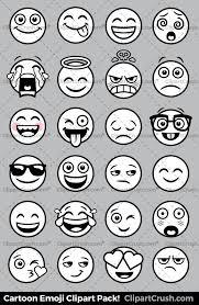 Emoji Clipart Black And White Royaly Free