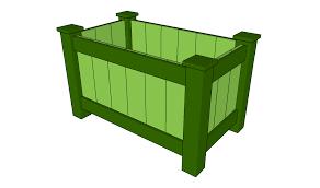raised planter box plans myoutdoorplans free woodworking plans