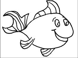 Blank Fish Coloring Page Printable Coloring Sheet Anbu