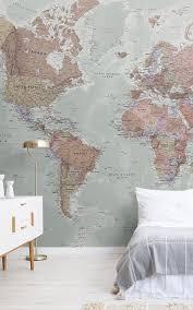 classic world map wallpaper mural murals wallpaper