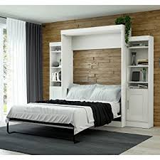 Amazon Bestar Edge Queen Wall Bed with Storage in White