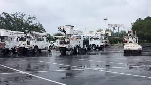 100 Toys R Us Trucks Utility Trucks Set Up A Staging Area In The Parking Lot