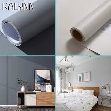matte grau vinyl selbst klebe tapete für küche schrank wohnzimmer schlafzimmer wand dekoration kontaktieren papier 55cm diy aufkleber