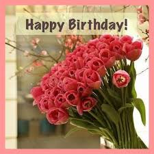 Happy Birthday Image With Beautiful Flowers