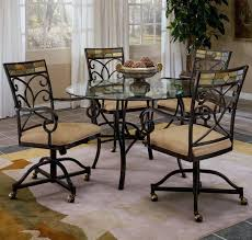 Dining Sets With Casters Rolling Dining Sets With Chairs On Wheels ...