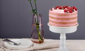 hohe himbeer joghurt torte mit kokos
