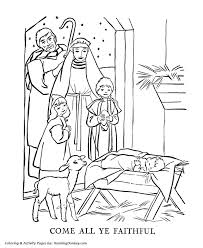 Christmas Bible Religious Coloring Page
