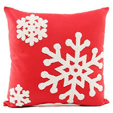 Amazon Howarmer 18x18 Christmas Decoration Red Throw Pillow