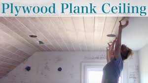 Armstrong Woodhaven Ceiling Planks by Plywood Faux Plank Ceiling Youtube