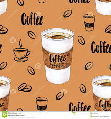 Download Glass Of Hot Coffee On A Brown Background Color Drawing Markers Handwork Sketch