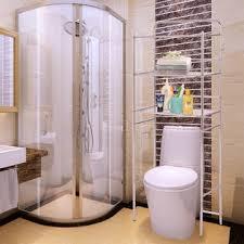 Over The Door Bathroom Organizer by Goplus 3 Tier Over The Toilet Space Saver Bathroom Storage Shelf