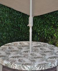 outdoor tableclothswith umbrella hole fitted fern outdoor