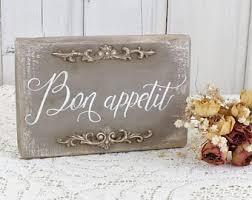 Bon Appetit Sign French Kitchen Decor Vintage Bar Cafe Restaurant Reclaimed