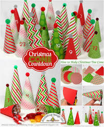 Pine Cone Christmas Tree Tutorial by Doodlebug Design Inc Blog Tuesday Tutorial Tree Advent Calendar