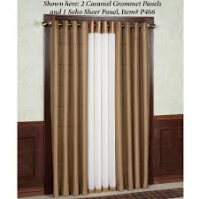 120 Inch Linen Curtain Panels by Tribeca Grommet Curtain Panels 84