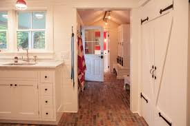 fresh red brick flooring kitchen taste
