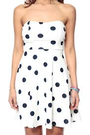 strapless polka dot cocktail dress cicihot dresses