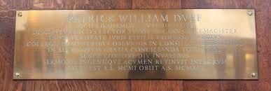 100 William Duff Trinity College Chapel Patrick