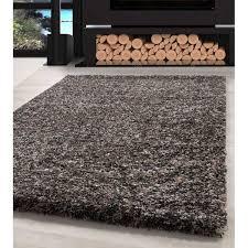 shaggy teppich hochwertig hochflor wohnzimmer taupe grau beige creme meliert größe 60x110 cm