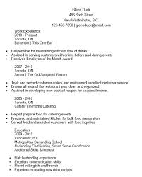 Here Is Download Link For This Bartender Resume