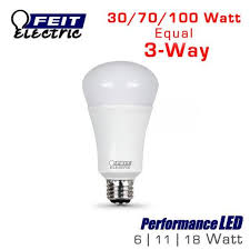 led 3 way three way light bulb 100 watt equal feit a30 100 led