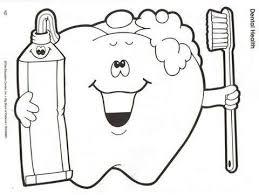 Coloring Page Dental HealthToddler ArtPreschool