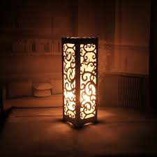 Decorative Table Lamp Vintage Wood Plastic Rustic Style Brief Modern Lampshade Living Room Bedroom 110 220V Desk Light In Lamps From Lights Lighting