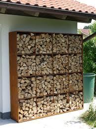 DIY outdoor firewood rack ideas