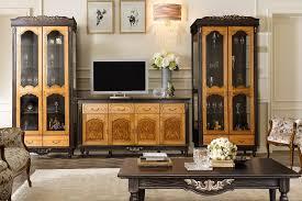 wohnzimmermöbel antik massivholz wenge honigeiche