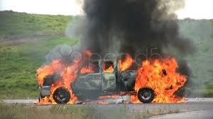 100 Truck Explosion Front And Back Tires Exploding On Burning Pick Up Truck Hi Res 272146